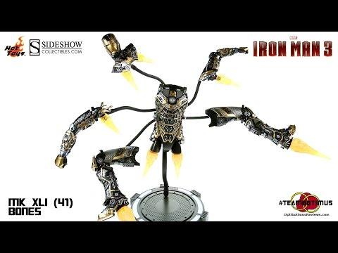 Video Review of the Hot Toys Iron Man 3 Mark XLI 41 Bones