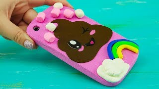 Poop Emoji Kawaii iPhone Case Tutorial for Kids | DIY Marshmallow Phone Case from Eva Foam