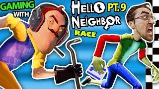 hello neighbor vs me basement race challenge irl gaming alpha 3 secrets revealed fgteev part 9