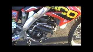 Geico Factory Honda CRF250R with Full Akrapovic Exhaust System