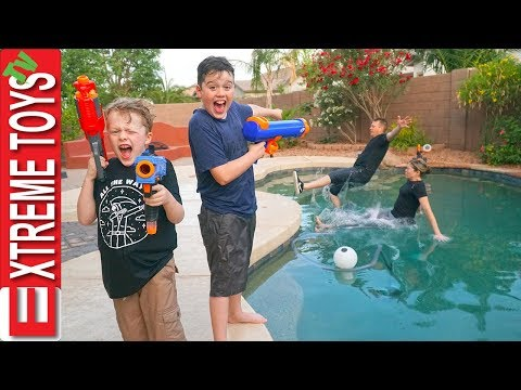 Sneak Attack Squad has Fun Home Alone Nerf Action