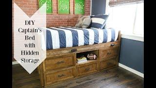 DIY Full Size Storage Bed - HIDDEN NERF GUN STORAGE!