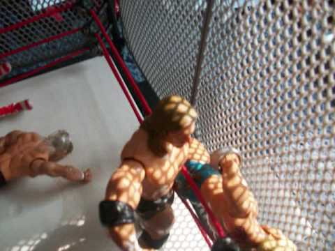 HBK and HHH dx vs mvp and kennedy cage match wwe toys