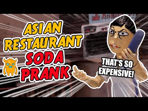 Angry Asian Restaurant Soda Prank (Stop Motion Animation) - Ownage Pranks
