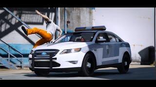 مطاردة أخطر مجرم بعدما هرب من أقوى السجون بسيارة شرطة || الشاص المسروقه الجزء السابع - قراند 5