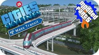 Cities Skylines Gameplay: MONORAIL/TRAM/TRAIN/BUS MEGA-HUB Cities: Skylines Mods MASS TRANSIT Part 5