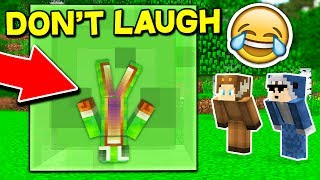 FUNNIEST TRY NOT TO LAUGH CHALLENGE... WITH UNSPEAKABLEGAMING AND 09SHARKBOY! (Minecraft Edition)