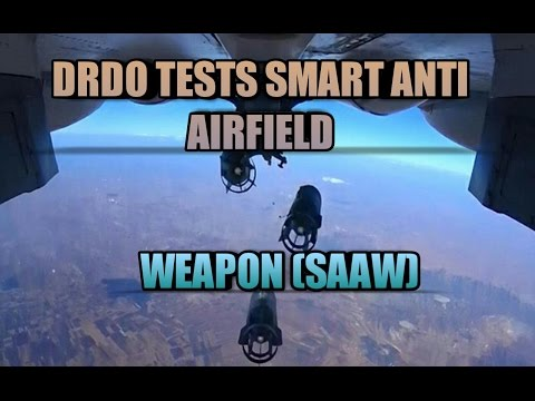 (HINDI)DRDO tests new smart anti-airfield weapon (SAAW)