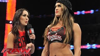 "Nikki demands that Brie cease calling herself a ""Bella"": Raw, Sept. 22, 2014"