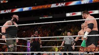 WWE 2K17 - Summerslam 2017 Fatal 4-Way   Match Highlights