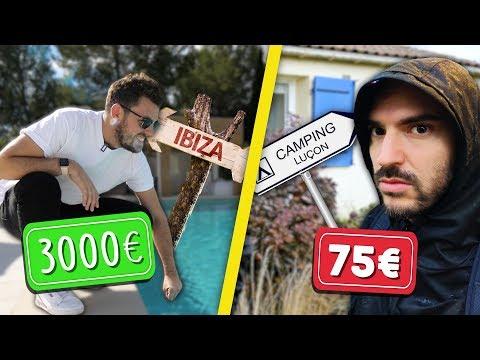 Week end à 3000€ la nuit VS Week end à 75€ la nuit