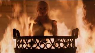 Game of Thrones 6x04 : Daenerys burned Khal Moro and the other Khals