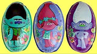 TROLLS Movie Chocolate Eggs, Poppy Branch Guy Diamond, Play Toy Sets, Hug Time Bracelet Song  / TUYC