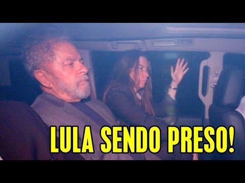 LULA SENDO PRESO E LEVADO PARA CURITIBA