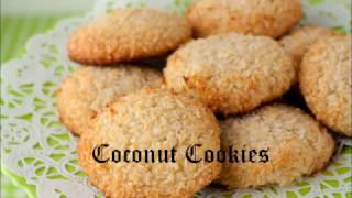 Tasty eggless coconut cookies in Indian style - How to make coconut cookies