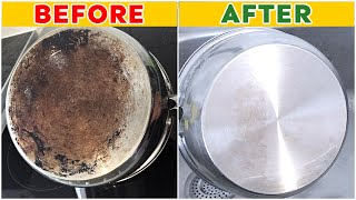How to Clean the Bottom of a Pot or Pan | How to Clean your Pot with Baking Soda and Vinegar