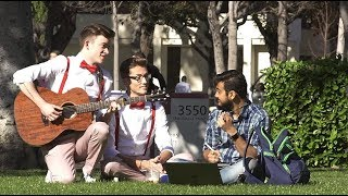 SINGING LOVE SONGS TO COLLEGE STUDENTS (Valentine