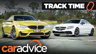 2017 BMW M4 Competition vs Mercedes-AMG C63 S Track Test | CarAdvice