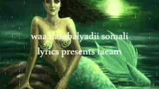 Somali Lyrics - presents - Ma degena warkaagu - Codkii : Amina Abdullahi & Farhan Xiddig