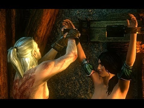 Geralt Saves Tortured Baroness Mary Lousa La Valette Witcher 2 Dungeons Censored