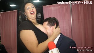 Amazon smothers with her big boobs Andrea Diprè!