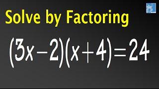 Solve (3x-2)(x+4)=24