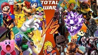 Super Smash Bros VS PlayStation All-Stars (Nintendo VS Sony) | CARTOON FIGHT CLUB REACTION!!!