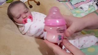 Morning Routine! Feeding Baby! Nasty Poop Diaper! Happy Baby! Reborn Baby Doll! Nlovewithreborns2011