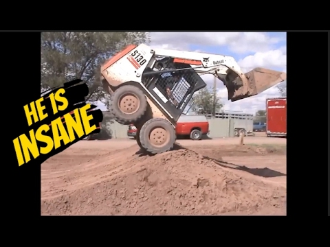 He is the most Insane Skilled Skid steer Operator in the World