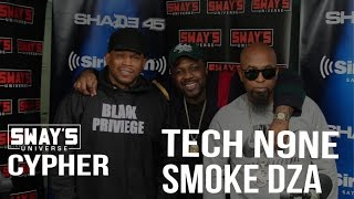 Tech N9ne and  Smoke DZA Freestyle over Pete Rock Production on Sway in the Morning