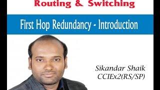 FHRP protocols differences - Video By Sikandar Shaik    Dual CCIE (RS/SP) # 35012