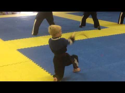 Ethan's Brown Belt Test, Chase Kata, 2014