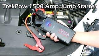 TrekPow 1500 Amp Car Jump Starter Device