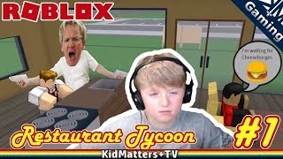 Rage against the Restaurant. Crazy staff | Roblox Restaurant Tycoon #1 [KM+Gaming S01E47]