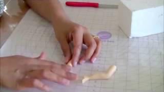 Gum paste Legs for sugar models | Cake Decorating Tutorial (Veena's Art of Cakes)