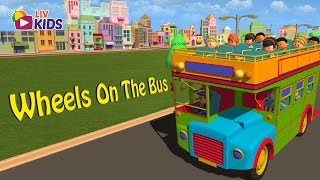Wheels On The Bus Go Round And Round with Lyrics | LIV Kids Nursery Rhymes and Songs | HD