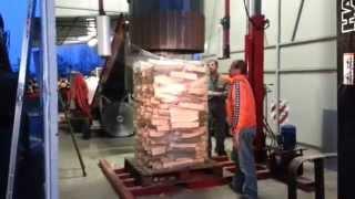 Firewood Packing - packaging wood - palettiseur bois de chauffage
