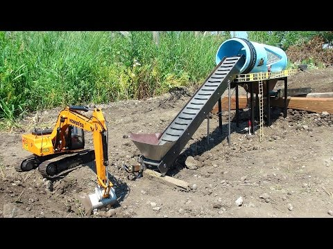 RC ADVENTURES GOLD Mine Trommel & 4200XL Excavator Radio Controlled