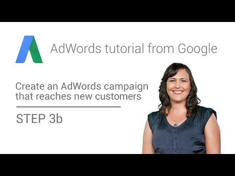 AdWords tutorial from Google -  Step 3b: Use the Search Network only campaign type