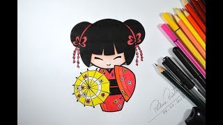 Como desenhar BONEQUINHA JAPONESA passo a passo