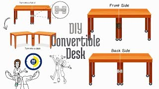 How to build a DIY Convertible Desk or Dining Table