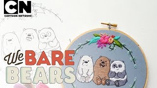 We Bare Bears | DIY Baby Bear Embroidery Hoop | Cartoon Network