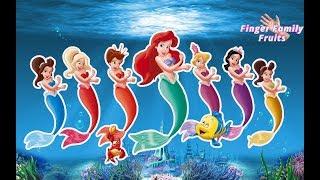 The Little Mermaid Popping Balloon Colors Finger Family Nursery Rhymes for children