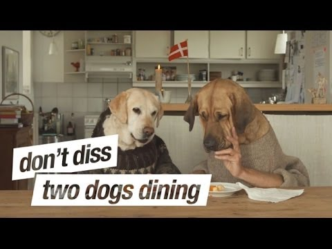 Two Dogs Dining. Don't diss - Be a Festis