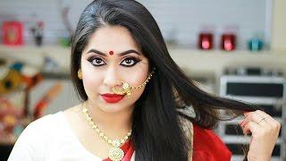 Durga Puja Navratri Makeup Tutorial 2016   Festive Makeup Look