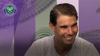 Rafael Nadal Wimbledon 2017 first round press conference