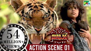 SHER KA SHIKAAR   शेर का शिकार   Mohanlal, Kamalinee Mukherjee & Namitha   Full ACTION Scene 1