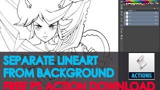 Tutorial: Lineart Separation from Background in Photoshop. Download FREE Action!