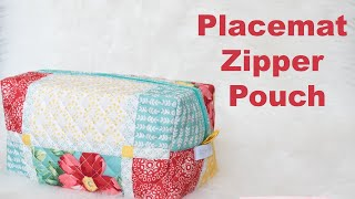 Create a zipper pouch from placemat