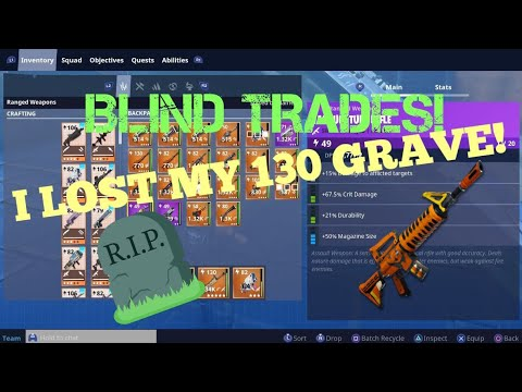 Blind Trades w UnknownTwinss Lost 130s MUST WATCH FORTNITE PVE